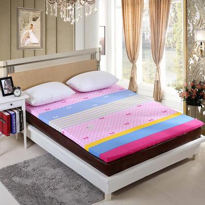 钻石绒海绵床垫大床床垫 150*200cm 钻石绒布套蝴蝶结