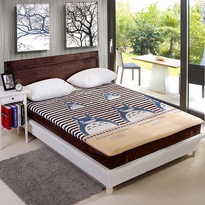 钻石绒海绵床垫大床床垫 150*200cm 钻石绒布套龙猫