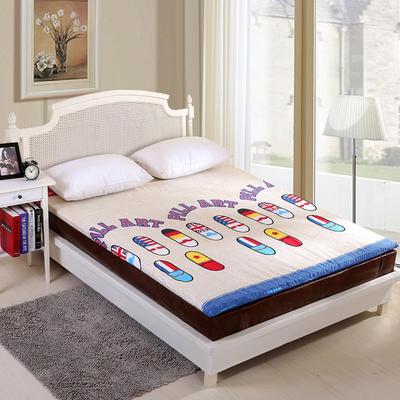 钻石绒海绵床垫大床床垫 150*200cm 钻石绒布套炫彩