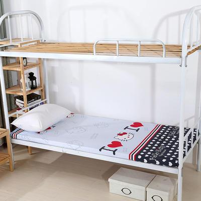 钻石绒海绵床垫学生床床垫 90*190cm 钻石绒布套KT猫