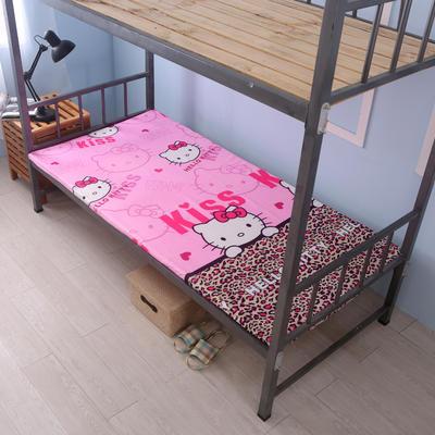 钻石绒海绵床垫学生床床垫 90*190cm 钻石绒布套豹纹KT