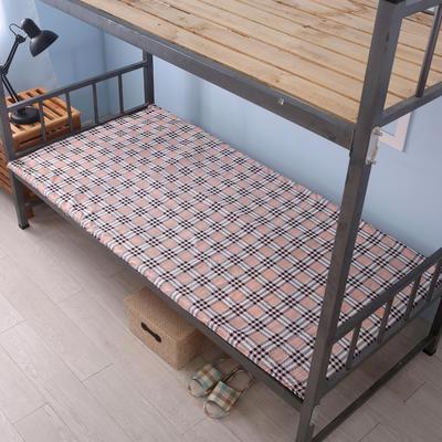 钻石绒海绵床垫学生床床垫 90*190cm 钻石绒布套新经典格