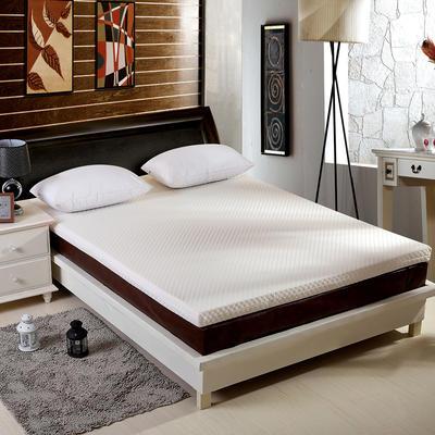 针织海绵床垫大床图 150*200 cm 5CM厚  水立方白色