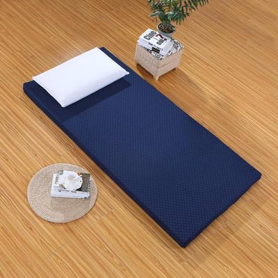 针织海绵床垫大床图 150*200 cm 5CM厚  水立方蓝色