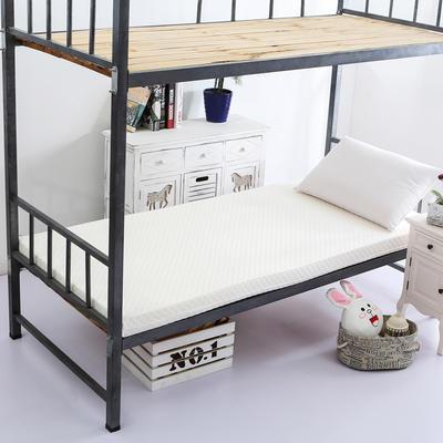 针织海绵床垫小床床垫 90*190cm 5CM厚  水立方白色