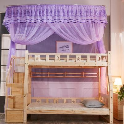 尚莎  2018年3款子母床上下铺蚊帐-1801 0.9*1.95m 1801紫