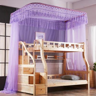 尚莎  2018年3款子母床上下铺蚊帐-1802 0.9*1.95m 1802紫