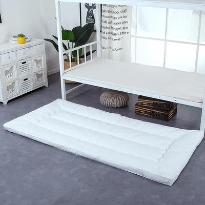 纯色羽丝绒床垫小床--学生上下铺加厚羽丝绒床垫 90x195 白色