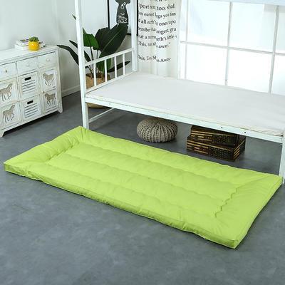 纯色羽丝绒床垫小床--学生上下铺加厚羽丝绒床垫 90x195 果绿