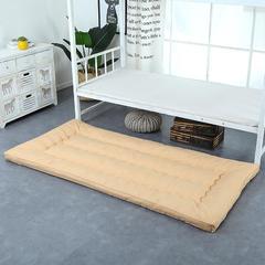 纯色羽丝绒床垫小床--学生上下铺加厚羽丝绒床垫 100x195 驼色
