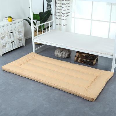 纯色羽丝绒床垫小床--学生上下铺加厚羽丝绒床垫 90x195 驼色