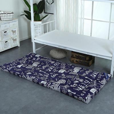 印花床垫小床--学生上下铺加厚羽丝绒床垫 90*195 爱的日记蓝