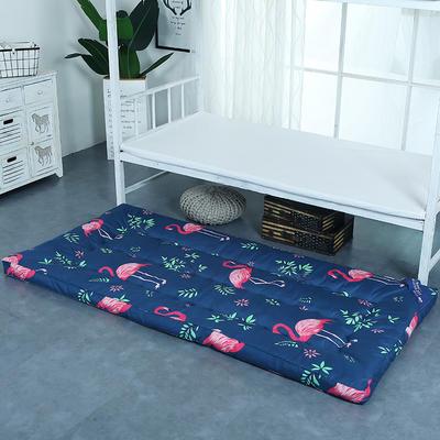 印花床垫小床--学生上下铺加厚羽丝绒床垫 90*195 火烈鸟