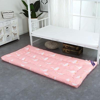印花床垫小床--学生上下铺加厚羽丝绒床垫 90*195 天鹅