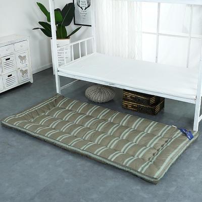 印花床垫小床--学生上下铺加厚羽丝绒床垫 90*195 条纹