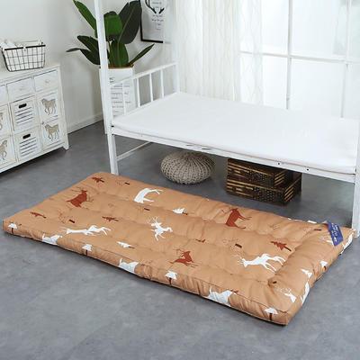 印花床垫小床--学生上下铺加厚羽丝绒床垫 90*195 小鹿