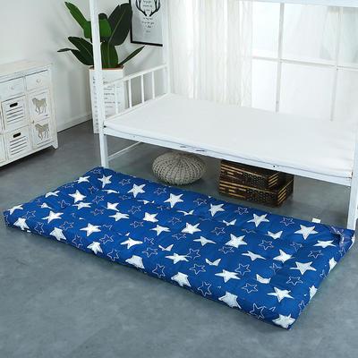 印花床垫小床--学生上下铺加厚羽丝绒床垫 90*195 星星