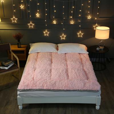 长毛绒羽丝绒床垫 90X200cm 粉色