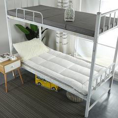 长毛绒床垫学生床垫 120X200cm 白色