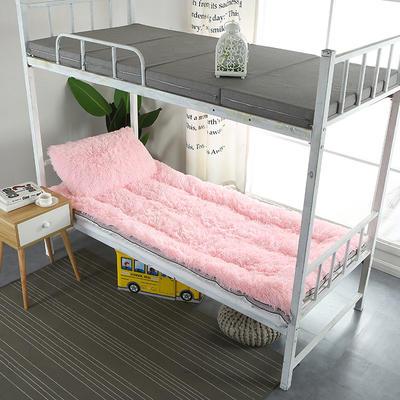 长毛绒床垫学生床垫 90X200 cm 粉色