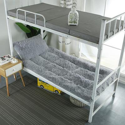 长毛绒床垫学生床垫 90X200 cm 灰色