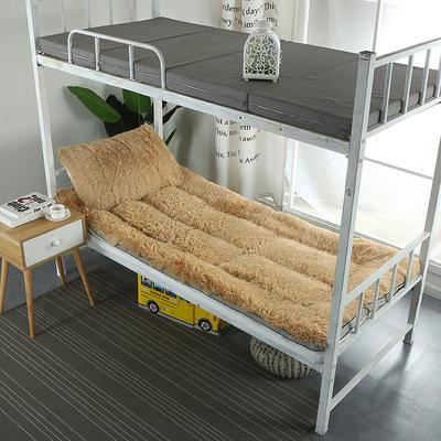 长毛绒床垫学生床垫 90X200 cm 驼色