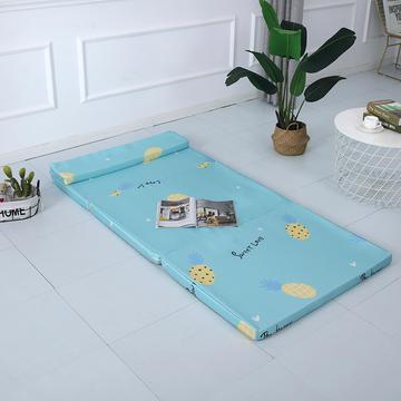 2019新款折叠款冰丝冰丝可拆洗折叠海绵床垫(自带枕头)