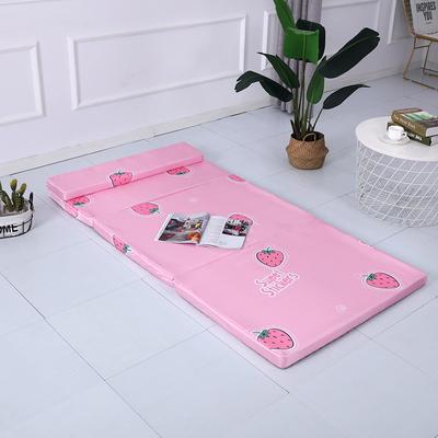 2019新款折叠款冰丝冰丝可拆洗折叠海绵床垫(自带枕头) 60*200cm 草莓