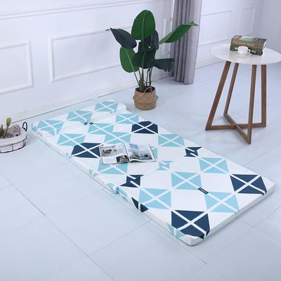 2019新款折叠款冰丝冰丝可拆洗折叠海绵床垫(自带枕头) 60*200cm 格艺