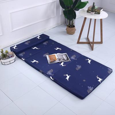2019新款折叠款冰丝冰丝可拆洗折叠海绵床垫(自带枕头) 60*200cm 小鹿