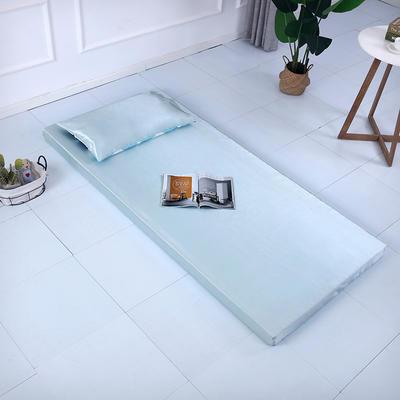 2019新款可拆洗冰丝床垫厚度8cm 枕套/只48*74cm 薄荷绿
