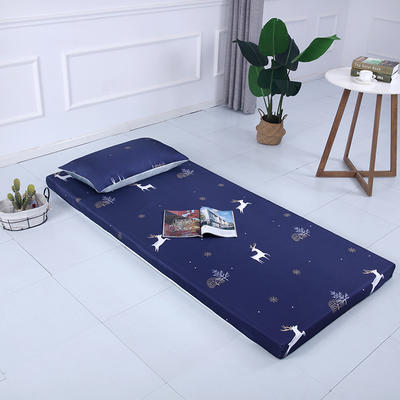 2019新款可拆洗冰丝床垫厚度8cm 枕套/只48*74cm 小鹿