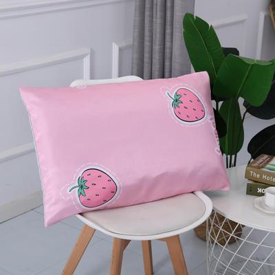2019新款冰丝枕套 40*60cm 草莓