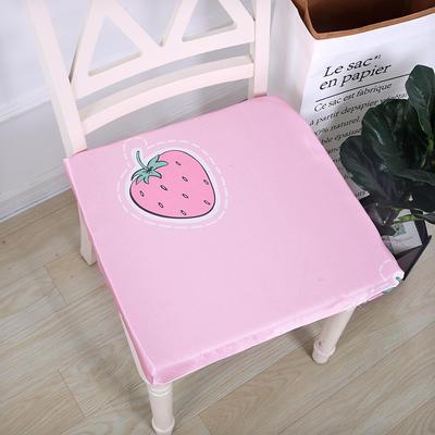 2019新款冰丝麻布海绵坐垫 35*35CM3cm厚 草莓