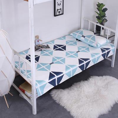 2019新款学生可水洗冰丝床单 床单:120cmx200cm 格艺