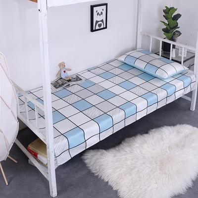 2019新款学生可水洗冰丝床单 床单:120cmx200cm 简单爱