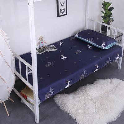 2019新款学生可水洗冰丝床单 床单:120cmx200cm 小鹿