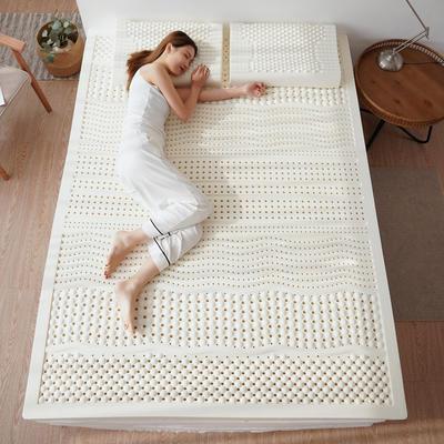 2020新款大床乳胶床垫白色 90*200cm 白色(5cm厚)