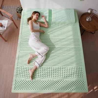 2020新款负离子乳胶床垫 120*200cm 浅绿(10cm厚)