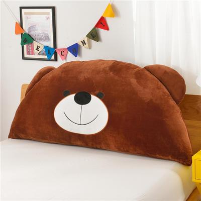 绣花卡通大靠垫 床头靠垫榻榻米软包 床上大抱枕 120*60cm 咖啡熊