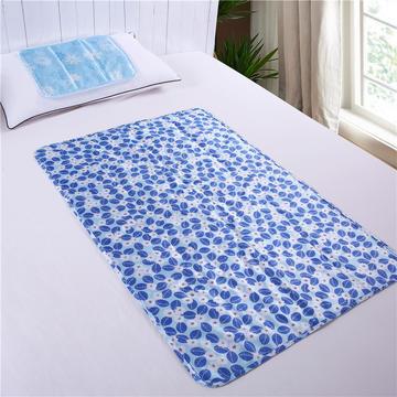 家用冰垫(中号落叶花)学生寝室降温冰垫 夏凉垫 降温床垫冰床垫
