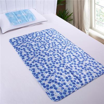 家用冰垫(中号落叶花)学生寝室降温冰垫 夏凉垫 降温床垫冰床垫 70*100cm 中号落叶花