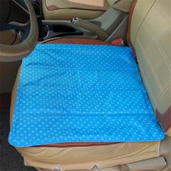 家用冰垫(圆点蓝)坐垫椅垫凉垫夏天学生冰沙降温冰垫 45*45cm 圆点蓝