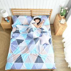 全棉隔脏睡袋 防脏床单 便携式酒店单人双人成人旅行睡袋 梦幻三角120*230cm