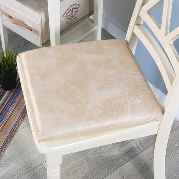 皮感记忆棉坐垫 沙发榻榻米慢回弹防水防滑座垫办公室可拆洗椅垫