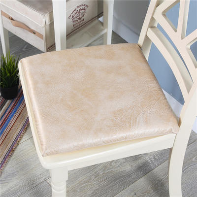 皮感记忆棉坐垫 沙发榻榻米慢回弹防水防滑座垫办公室可拆洗椅垫 40*40记忆棉 白羊皮
