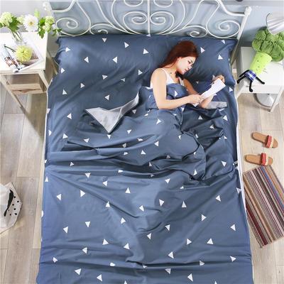 纯棉酒店印花隔脏睡袋 便捷式成人旅行户外信封床单枕头套件批发 爱巢160*230