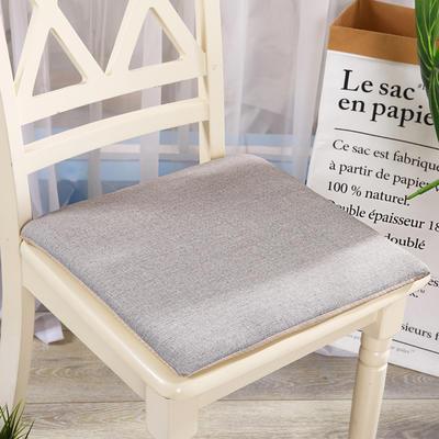 坐垫-硬质棉坐垫 记忆棉坐垫椅垫 学生办公室电脑椅餐椅垫子 40X40cm 浅灰色
