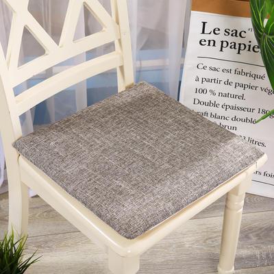 坐垫-硬质棉坐垫 记忆棉坐垫椅垫 学生办公室电脑椅餐椅垫子 40X40cm 浅咖色