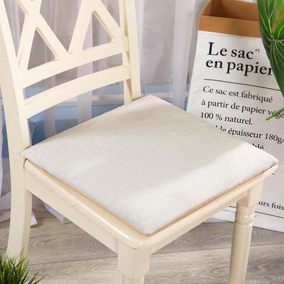 坐垫-硬质棉坐垫 记忆棉坐垫椅垫 学生办公室电脑椅餐椅垫子 40X40cm 象牙色